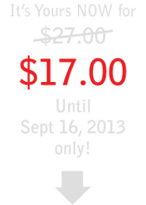 Introductory Offer: $17.00 until Sept 16 only!