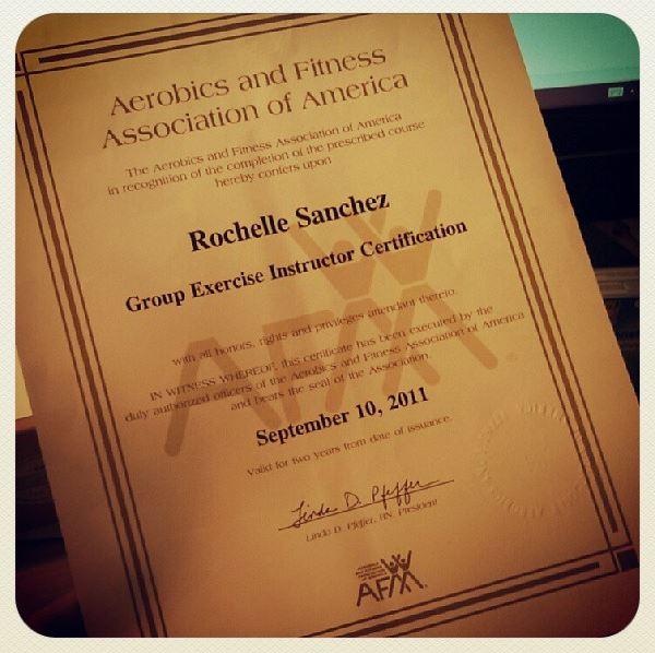 My AFAA Certificate!